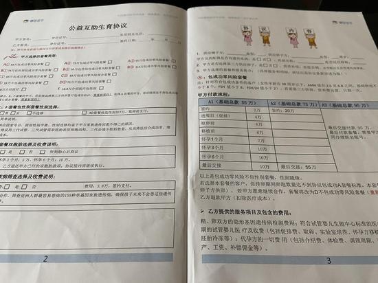 """""""精因宝贝""""提供的协议书上包含了多种基础套餐,主要分为""""包成功、不包成功""""两种。"""