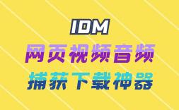 网页视频音频自动捕获下载神器(IDM)