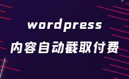 wordpress付费阅读插件(内容自动截取)