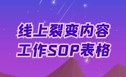 线上裂变内容工作SOP全套表格