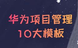 华为项目管理10大模板