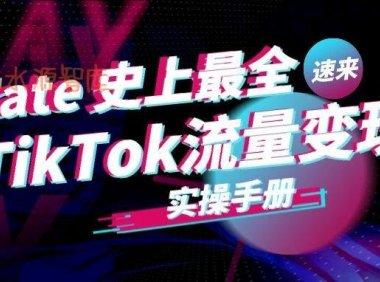 史上最全Tiktok流量变现实操手册》持续更新